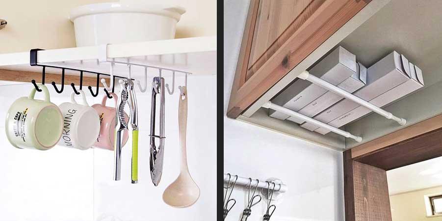 راهکار برای استفاده بهتر از فضای زیر کابینت آشپزخانه با مساحت کم