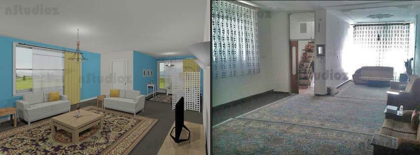 مشاوره و طراحی منزلی که کل کف آن با فرش پوشیده شده بود