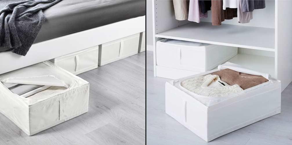 نظم دادن وسایل زیر تخت اتاق خواب