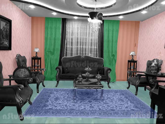 تحلیل و معرفی بافت ها و طرح های مختلف استفاده شده در دکوراسیون پذیرایی خانه با مبل تیره
