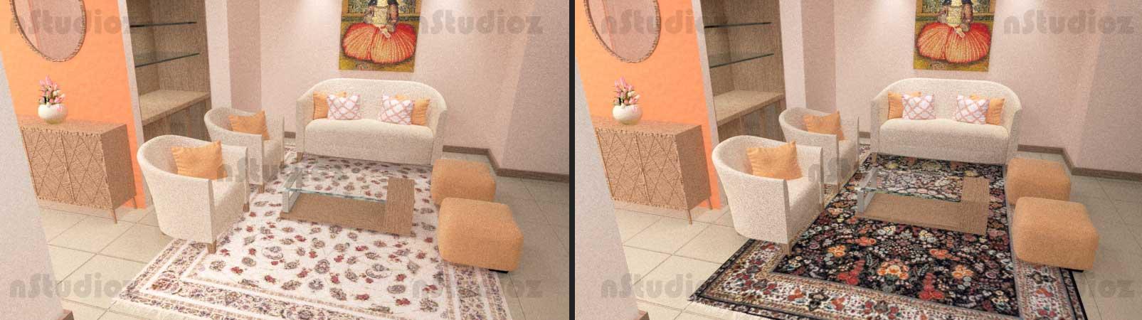 فرش مشکی و سفید در یک خانه ثابت چه تفاوتی ایجاد می کنند