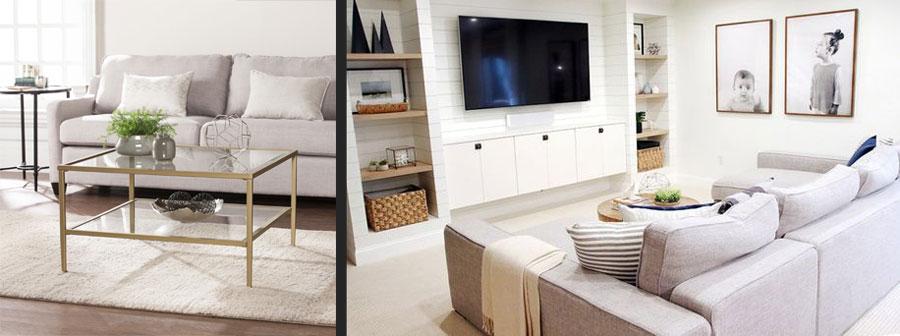 استفاده از مبلمان شیشه ای و روشن برای اتاق های کوچک