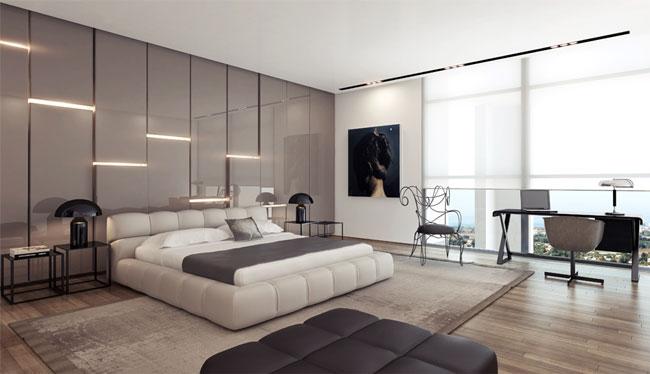 استفاده از رنگ یا مصالح منعکس کننده نور در اتاق خواب