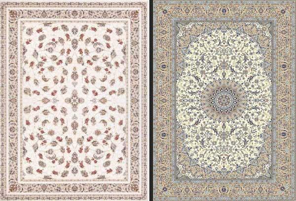 فرش طرحدار با طرح ریز در مقایسه با فرش طرح درشت رنگ روشن