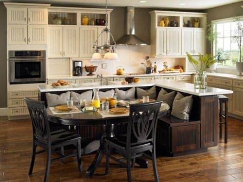 مدل جزیره آشپزخانه با غذاخوری