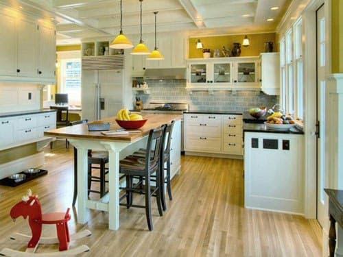 جزیره برای آشپزخانه و غذاخوری دو نفره