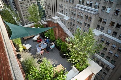 مشاوره ی طراحی فضای پشت بام