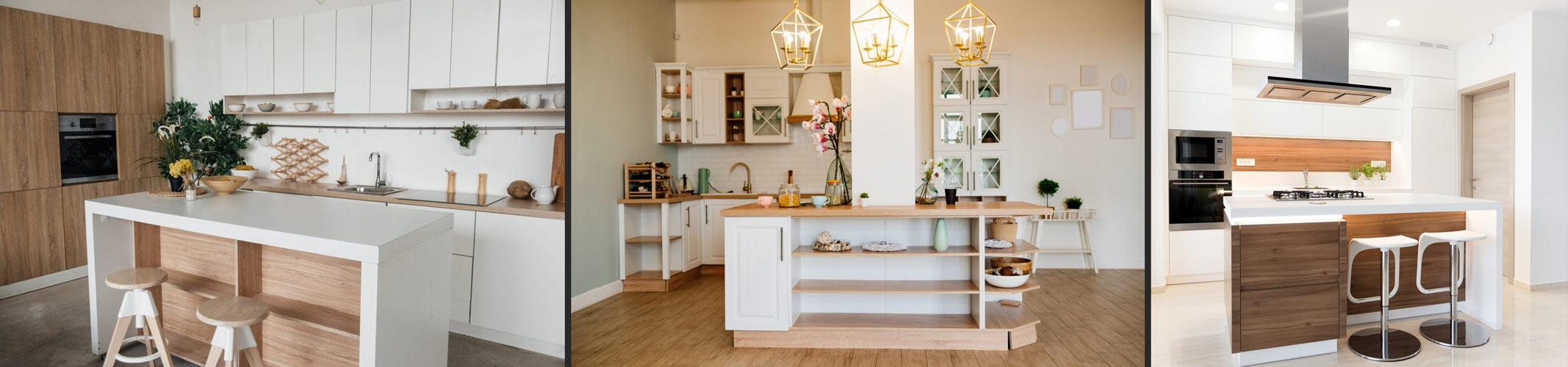 معرفی انواع طرح های جزیره برای آشپزخانه منزل