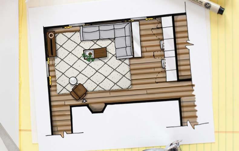 چگونه یک پلان(نقشه) طراحی داخلی منزل را رسم کنیم؟