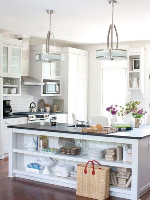 جزیره آشپزخانه با طبقه بندی وسایل