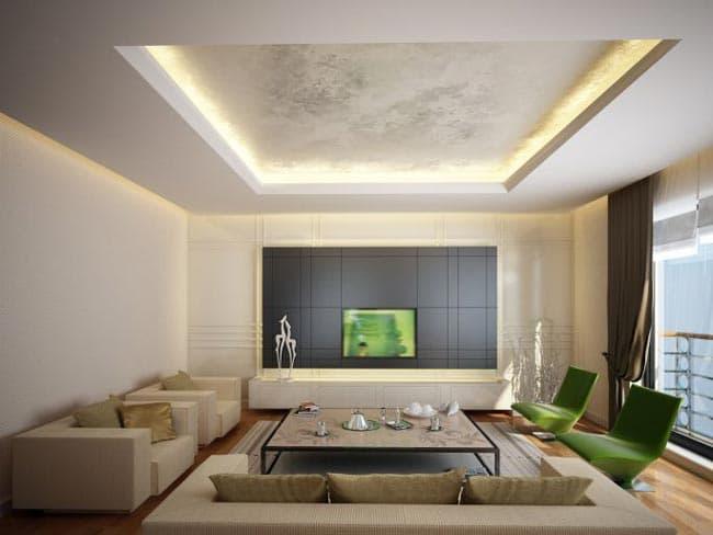 ایده هایی برای دکوراسیون سقف پذیرایی خانه