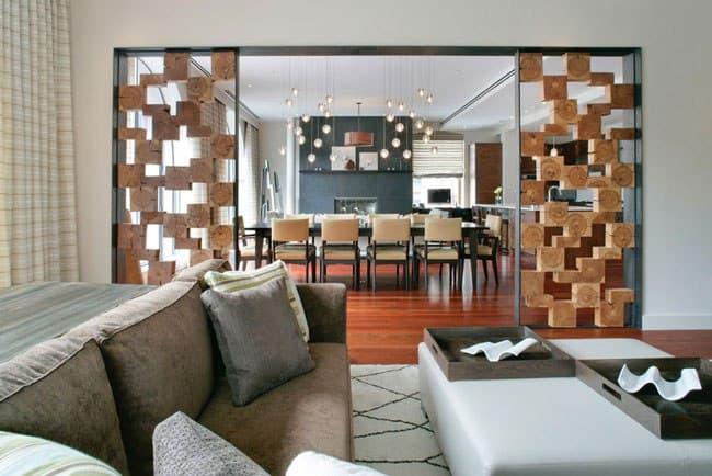 دکور چوبی برای جداسازی و پارتیشن خانه
